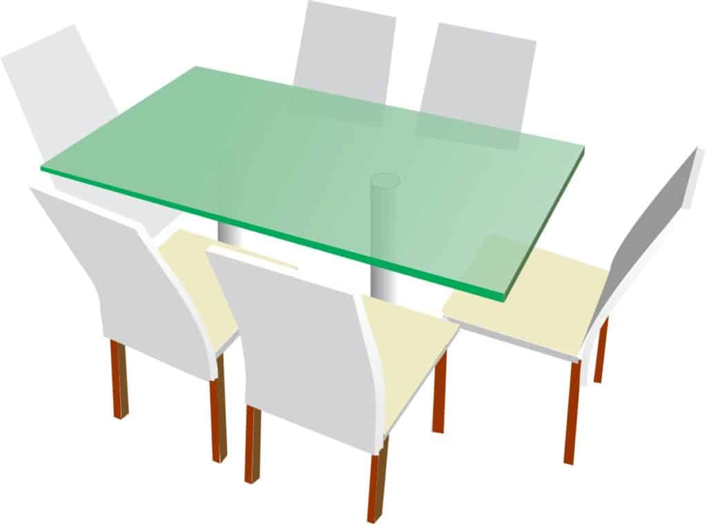 glass dining tabletop