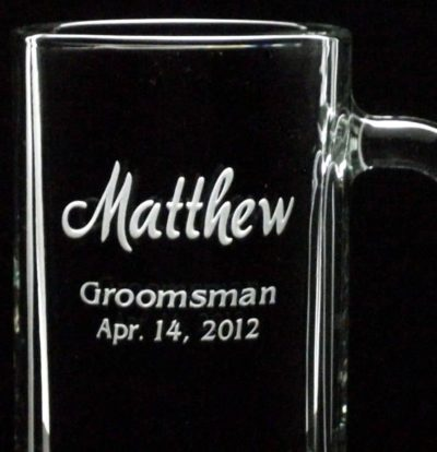 Etched best mug for best man and wedding party