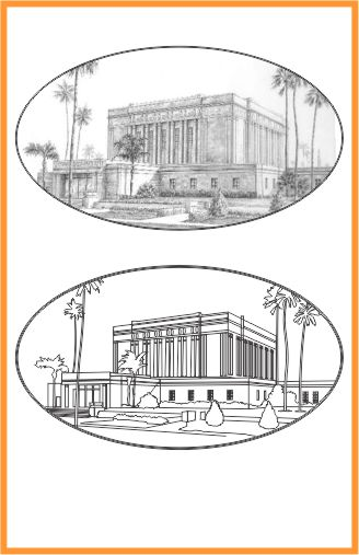 Drawings of LDS Temple Mesa Arizona