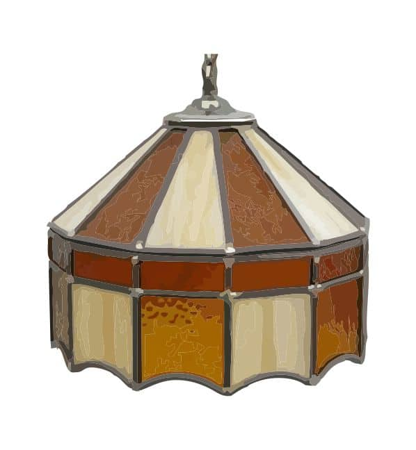 Leaded glass lampshade