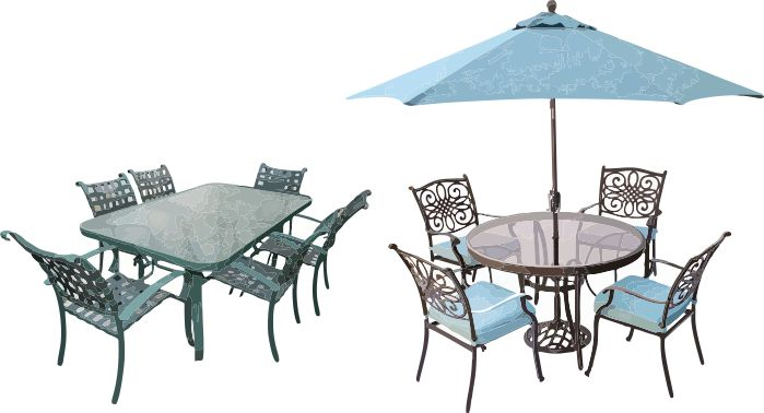 Rectangular & Circular Patio Tables