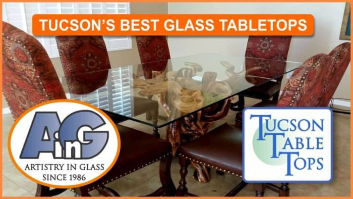 Choose your glass using Tucsontabletops.com