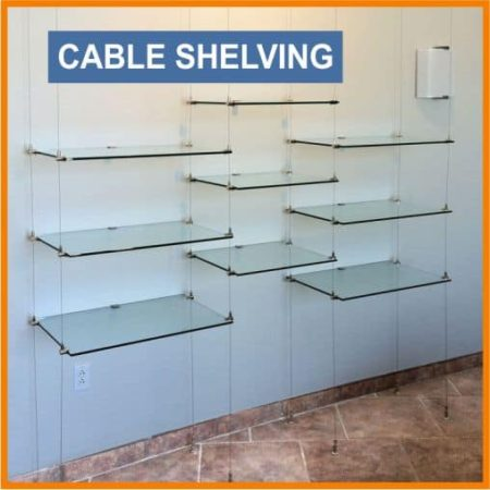 CABLE glass shelving
