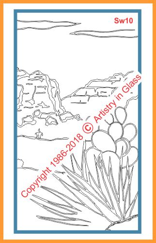 mountain limestone scene with agave