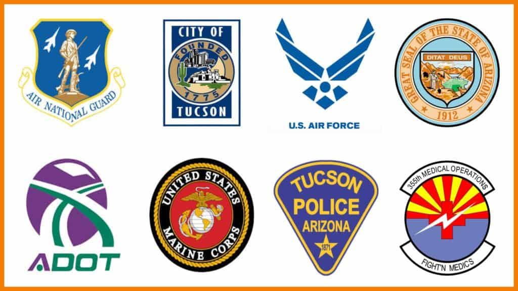 Military and Government logos
