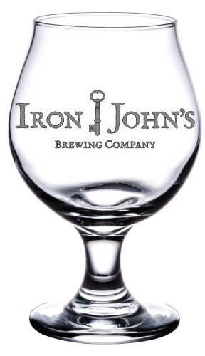 Glass for iron john brewery