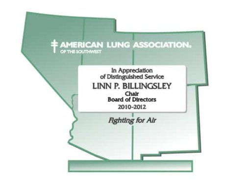 Glass plaques representing the SW US for the American Lung Association