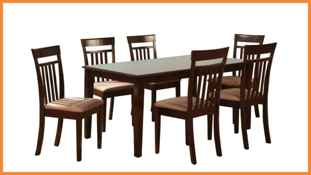 new wooden dining table with glass