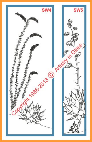 ocotillo and agave designs with quail