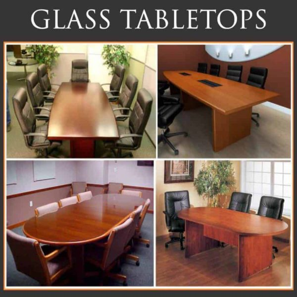 collection of four conference tables