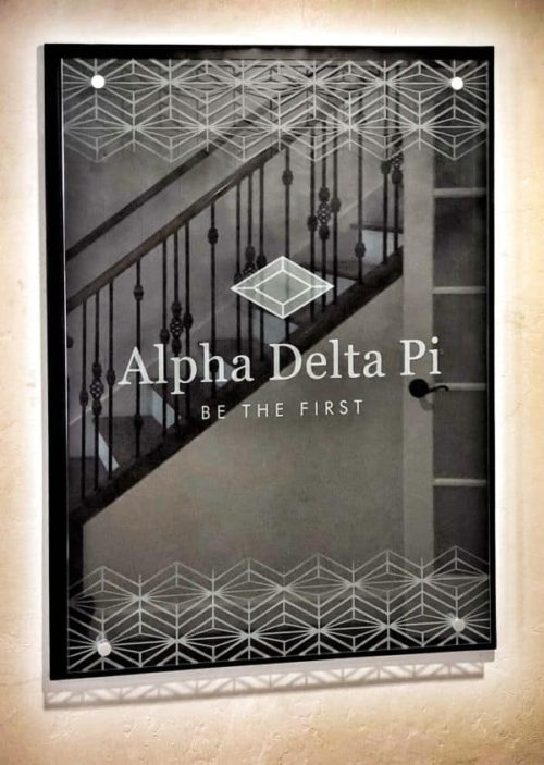 alpha delta pi plaque