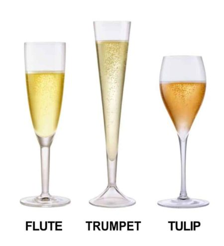 shapes of flute champagne glasses
