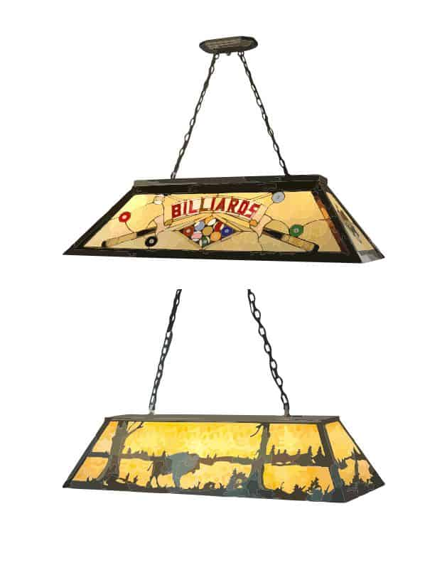 Pool table lampshades