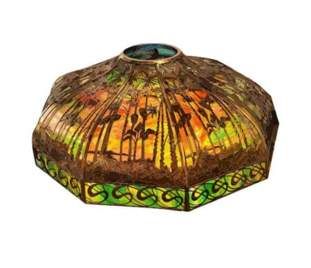 Stained glass sunset lampshade