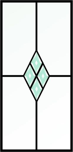 Leaded glass with beveled cluster