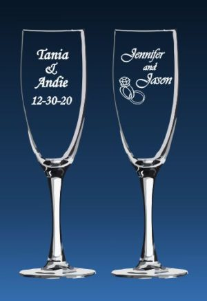 Font styles for toasting flutes