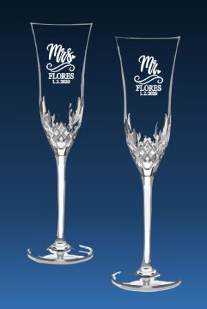 Waterford Crystal Lismore Essence Champagne Flutes