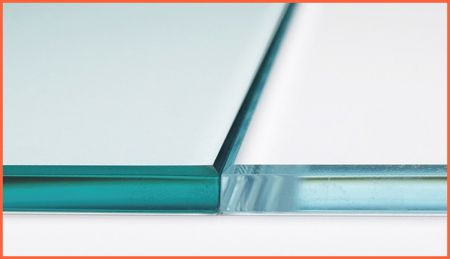 clear glass & low-iron glass