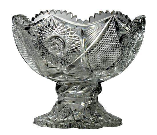 American Cut Crystal Punch Bowl