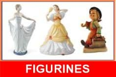 figurines from Lladro, Hummel, Royal Doulton