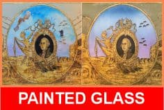 reverse painted glass