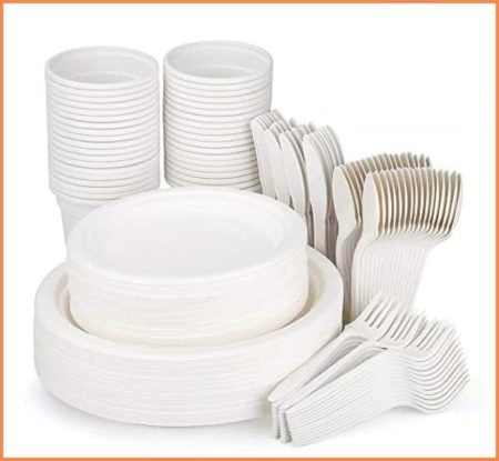 Paper Plates and Plastic cutlery