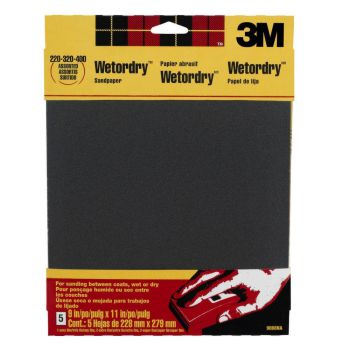 Wet-dry sandpaper is ideal for seaming glass