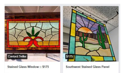 Stained glass for sale on Facebook Marketplace