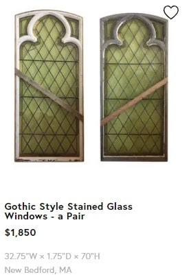 Antique stained glass for sale on Chairish