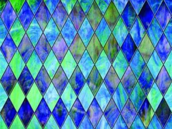 adhesive film simulates stained glass