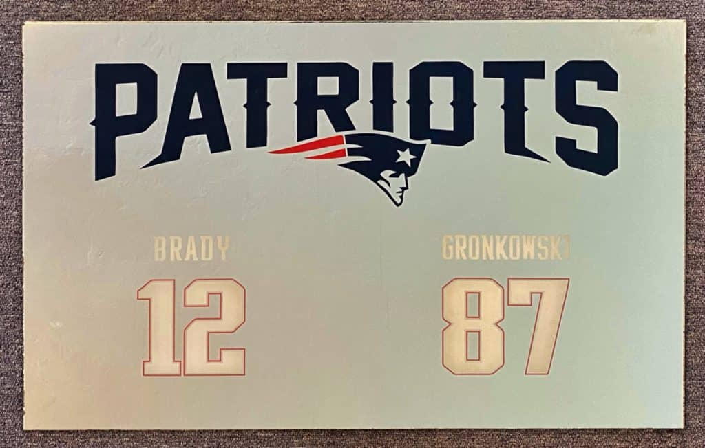 New England Patriots Mirror
