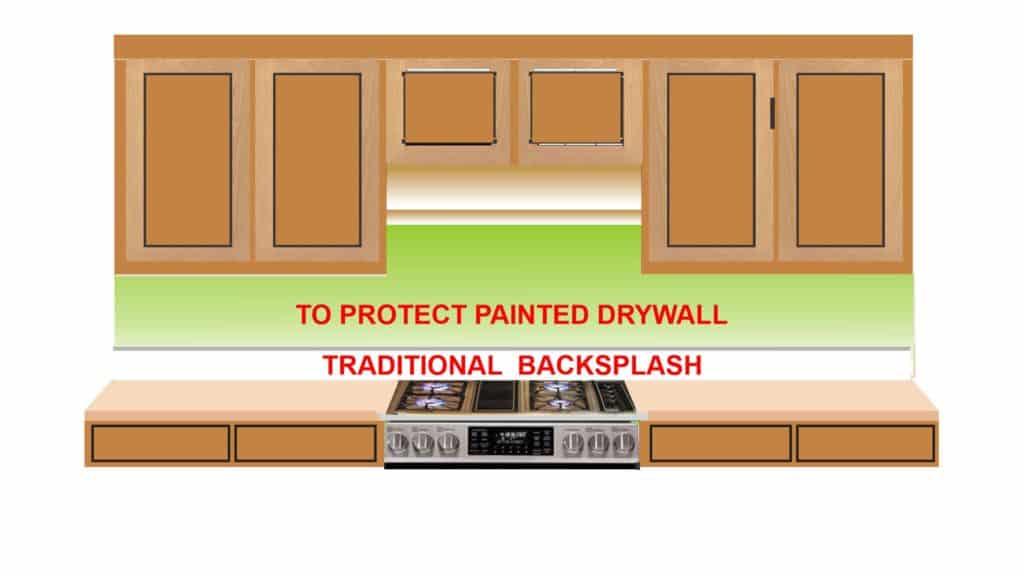 Traditional 4 inch kitchen backsplash