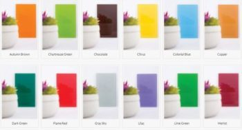 Standard colors for painted glass