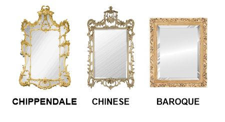 Chippendale, Chinese & Baroque mirrors