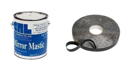 Mirror mastic & double-sided tape