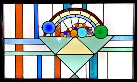 Abstract stained glass cornucopia
