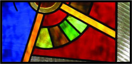Colorful abstract stained glass