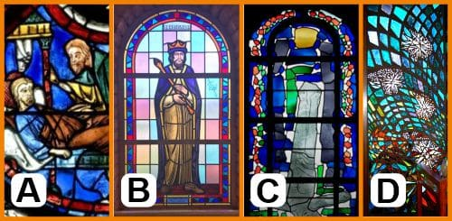 Evolution of religious stained glass