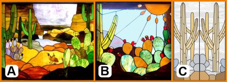 sonoran desert stained glass