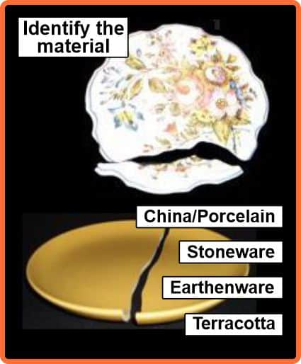 Is the plate china, stoneware, earthenware or terracotta?