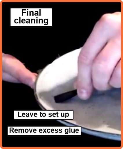 Final clean remove glue
