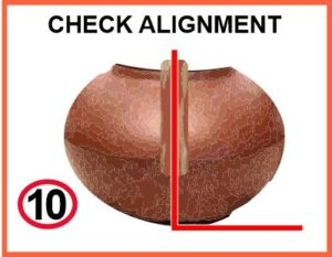 Check alignment of handle