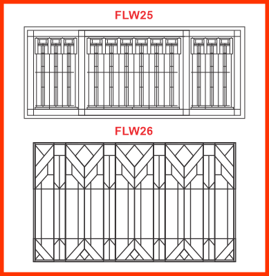 Frank Lloyd Wright-style stained glass