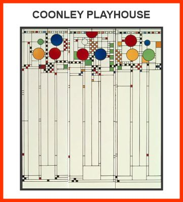 Original windoes from the Coonley Playhouse
