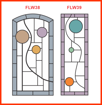 Stained glass in the style of the Coonley Playhouse