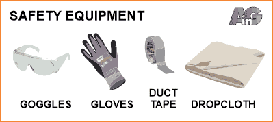 safety equipment for mirror removal