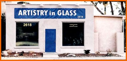 New Artistry in Glass building at 2618 E Fort Lowell Road