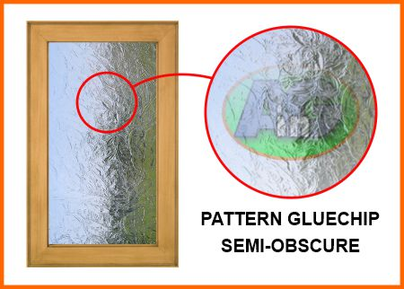 Pattern gluechip has a impressed texture