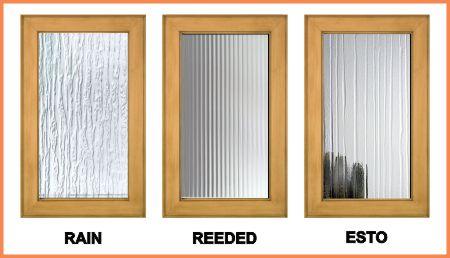 Rain, Reeded & Esto textured architectural glass