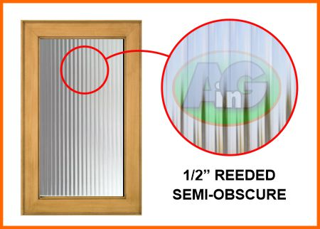"""1/2"""" wide reeded glass"""